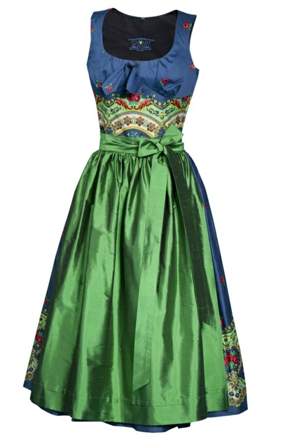 damen trachtenmode drindl schürze grün kleid blau oktoberfest 2014
