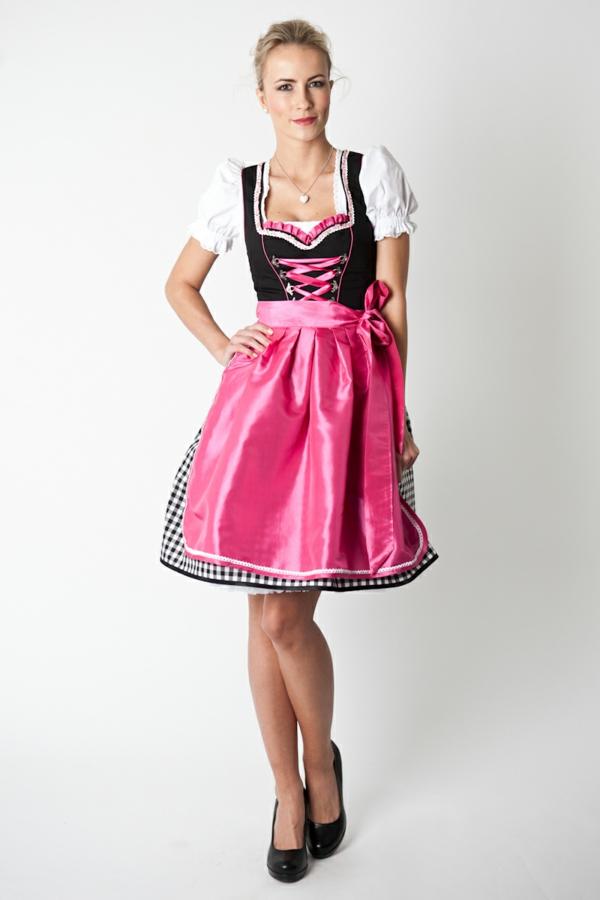 damen trachtenmode drindl schürze pink drindl kleider oktoberfest 2014