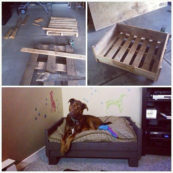 diy holz hundebetten aus europaletten. Black Bedroom Furniture Sets. Home Design Ideas