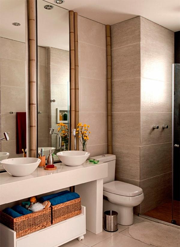 dunkle flecken spiegel im badezimmer oberflächen
