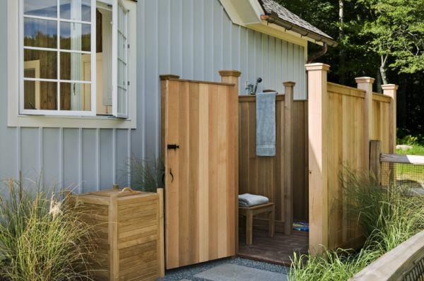 dusche selber bauen - coole diy gartendusche aus europaletten, Hause und Garten