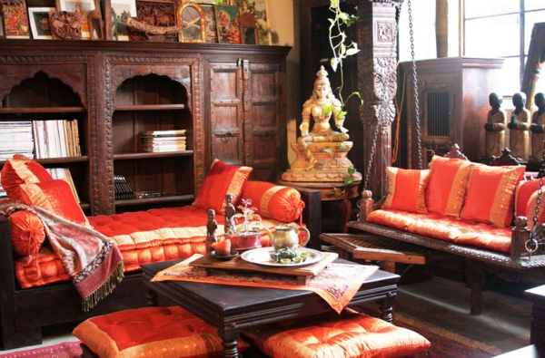 Coole einrichtungsideen im indischen stil for Indian ethnic living room designs