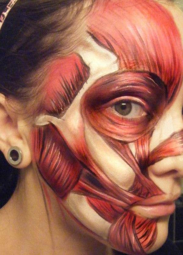 halloween schminken ideen in rot