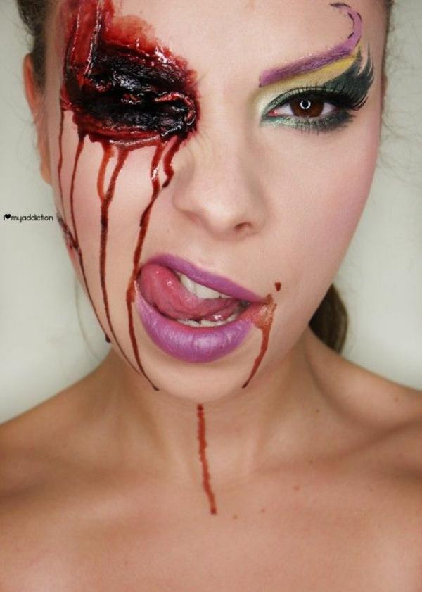 einmalige halloween schminktipps frauen