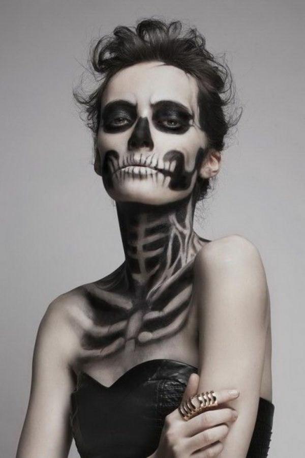 einmalige halloween schminktipps skelett