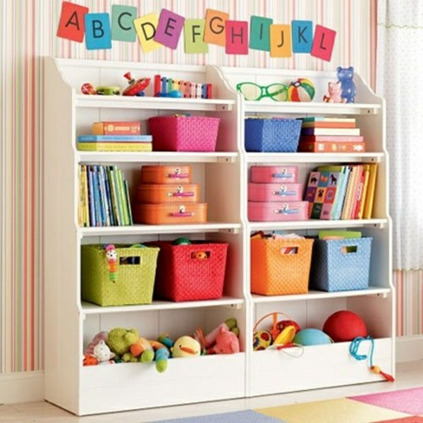 Aufbewahrung kinderzimmer praktische designideen - Offenes regalsystem ...