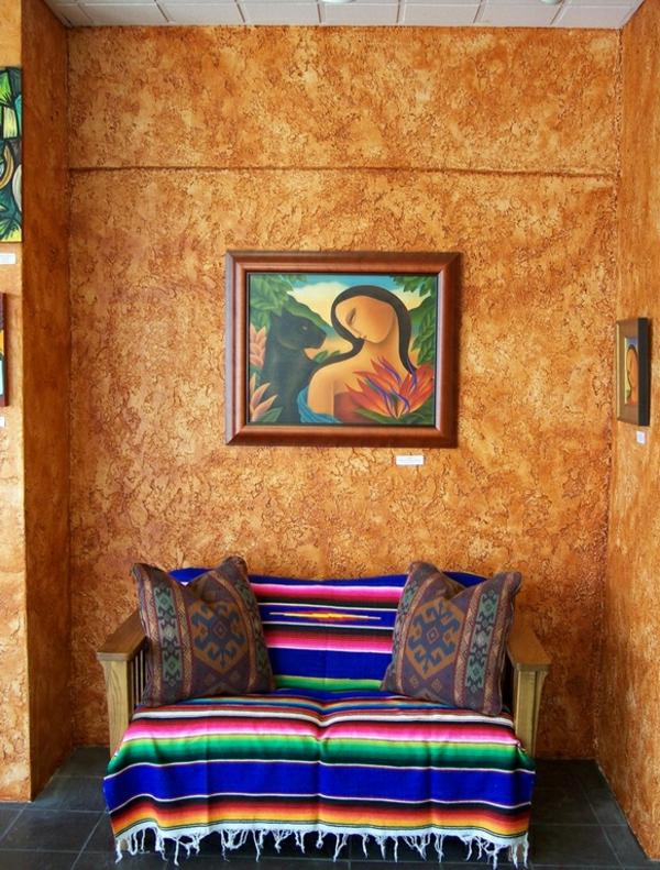 einrichtungsideen flur mexikanischer stil küchenfliesen lebhafte farbpalette