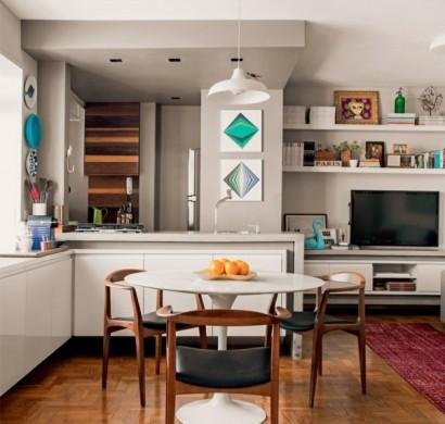 einrichtungsideen wie man eine kleine wohnung breiter aussehen l sst. Black Bedroom Furniture Sets. Home Design Ideas