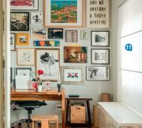 einrichtungsideen, wie man eine kleine wohnung breiter aussehen lässt - Wohnideen Kleine Arbeitszimmer