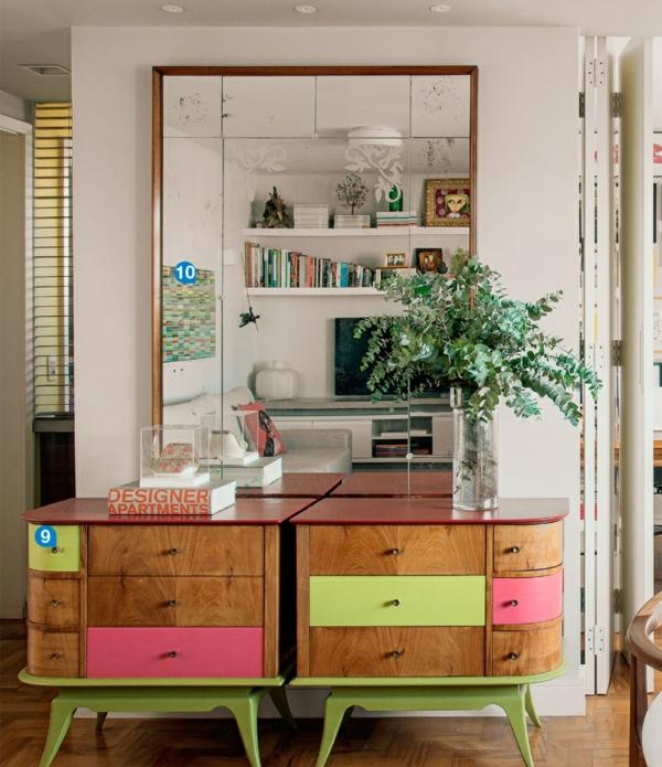 einrichtungsideen wohnideen möbel innendesign ideen wandspiegel kommode anrichte