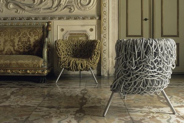 einrichtungsideen wohnzimmer dekorative möbel sessel