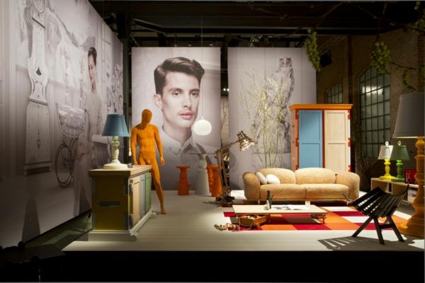 einrichtungsideen wohnzimmer modern skulpturen