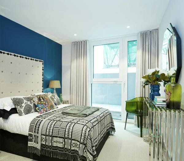 Farbgestaltung Wohnung Schlafzimmer Blau