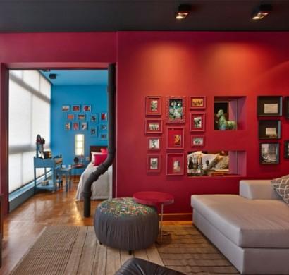 farbgestaltung wohnung - interieur ideen voll von kolorit - Wohnzimmer Rot Beige