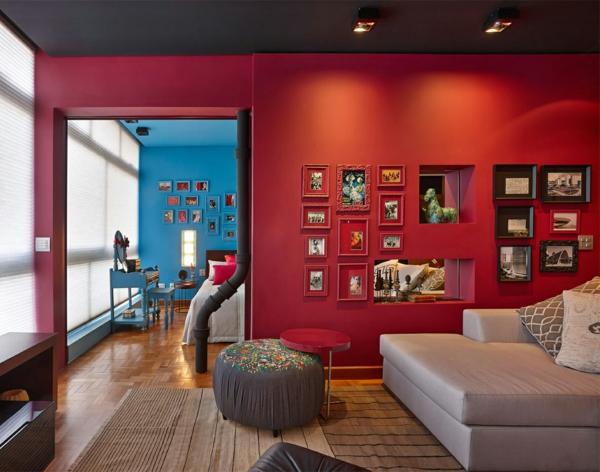wohnzimmer beige rot:Farbgestaltung Wohnung – Interieur Ideen voll von Kolorit