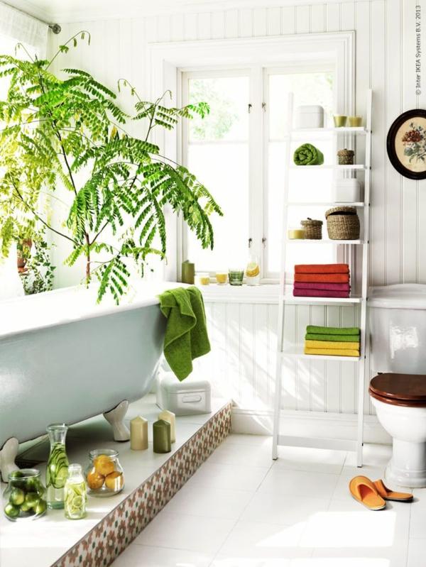feng shui pflanzen grüne wohnideen positive energie badezimmer pflanzen