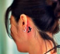 Tattoo hinterm Ohr: Vorlagen und Ideen für einen einzigartigen WOW-Effekt