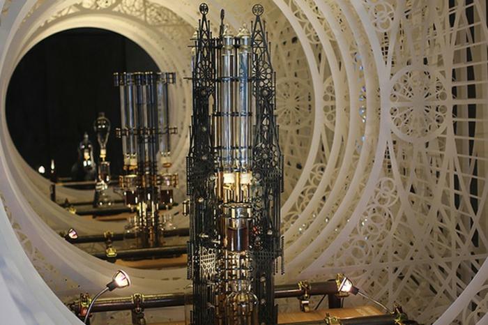 gotischer stil ornamente Dutch Lab designer kaffeemaschine kaffee kochen