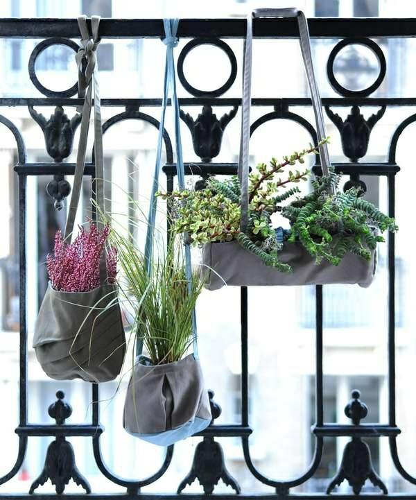 hängende balkonpflanzen deko ideen topfpflanzen terrasse gestalten