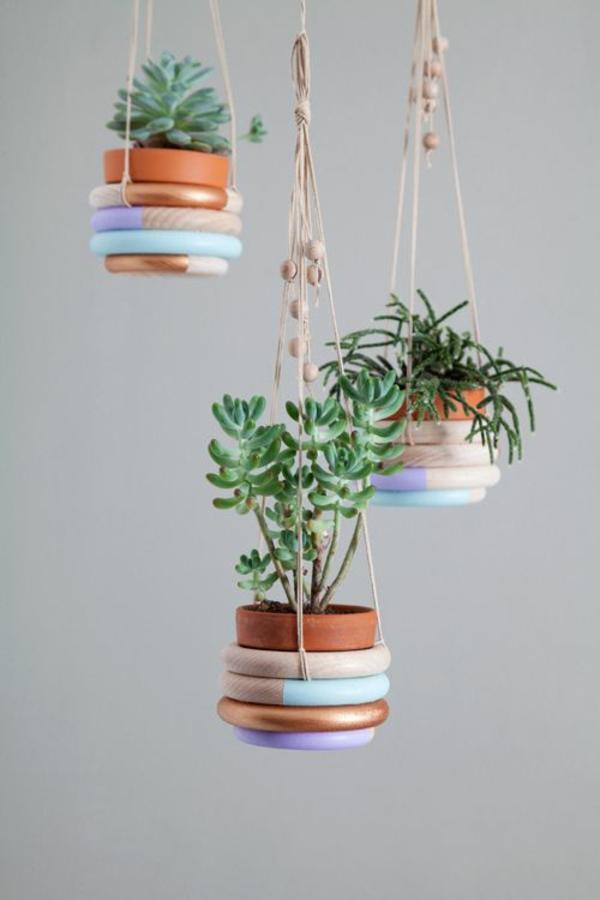 hängende zimmerpflanzen deko ideen blumenampel topfpflanzen