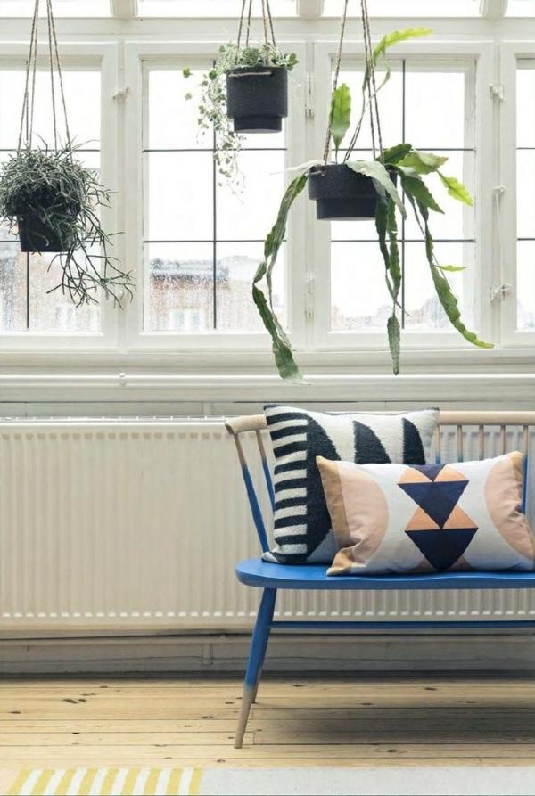 hängende zimmerpflanzen deko ideen wohnzimmer topfpflanzen