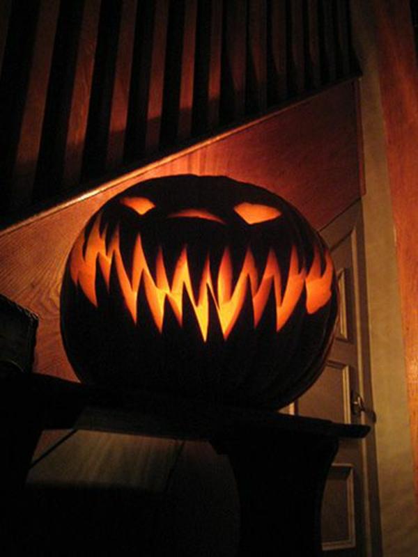halloween dekoration kürbis leuchten