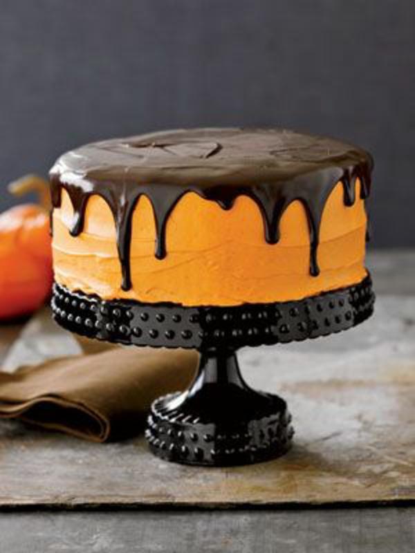 halloween gebäck torte kuchen kürbisse schokolade