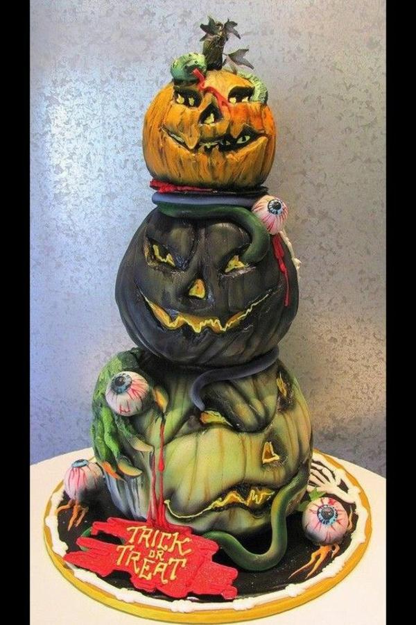 halloween gebäck torte kuchen kürbisse