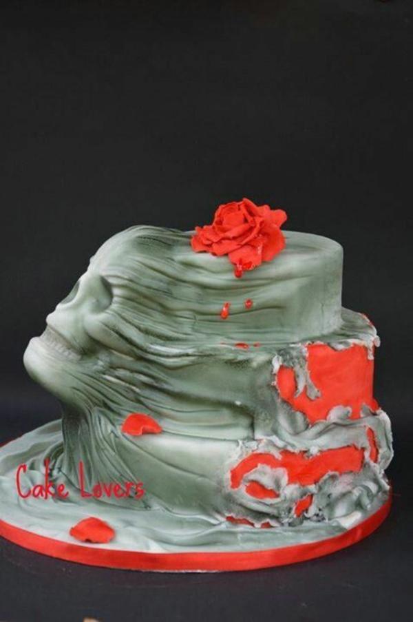halloween essen gebäck torte kuchen schädel