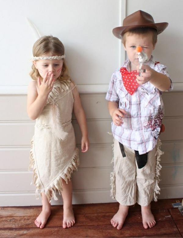 cowboys kinderkostüme originell basteln  halloween
