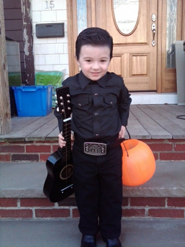 halloween kinderkostüme originell basteln mann gitarre