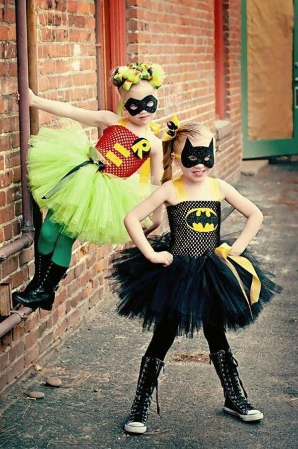 halloween kleider kinderkostüme originell basteln super heroes