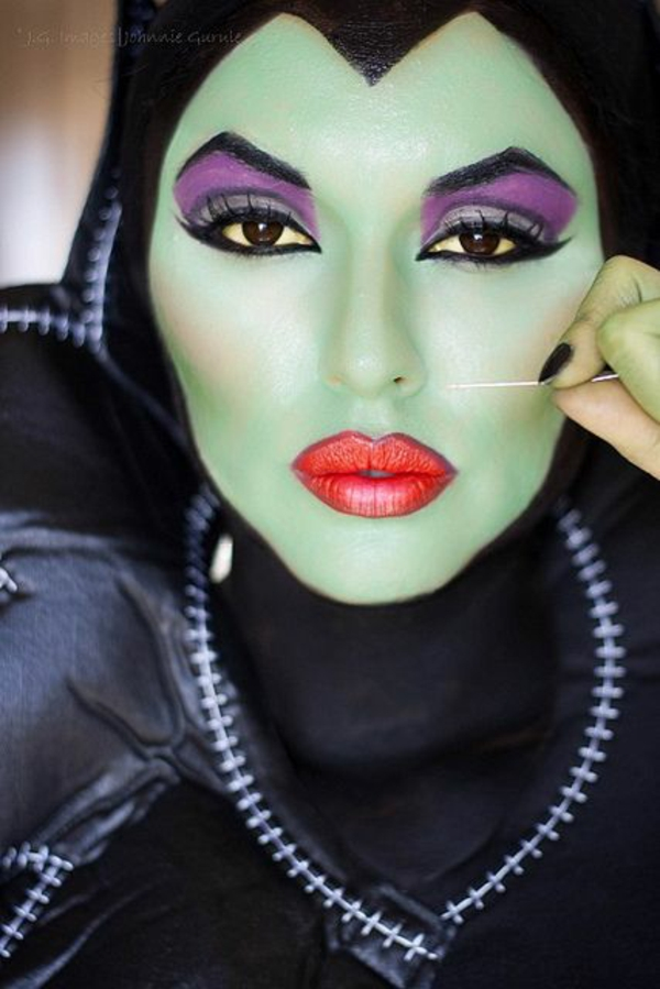 halloween schminken ideen tolle hexe