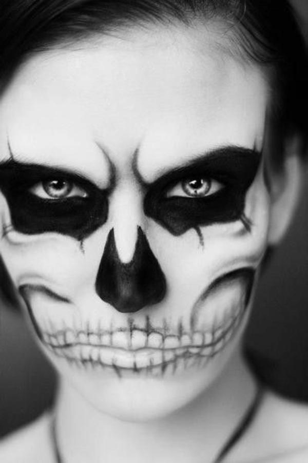 halloween schminkeideen zombie gesicht schminke