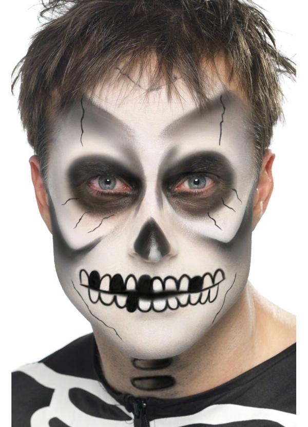 halloween schminken zombie gesicht schminke herrenmakeup