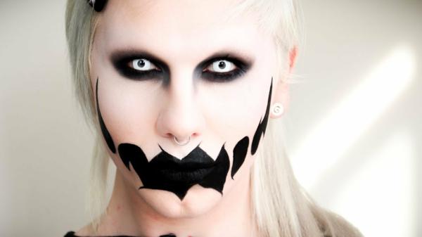 halloween schminken zombie gruselige schminktips linsen