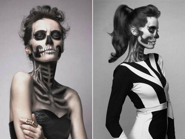 halloween schminken zombie helloween makeup