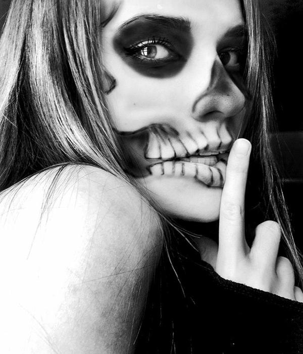 halloween schminken zombie makeup ideen
