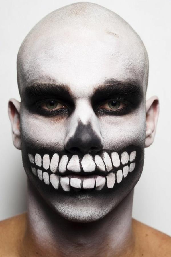 halloween schminken zombie schminke männer makeup