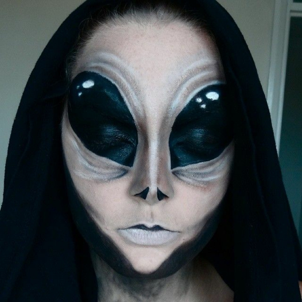 halloween schminktipps make up alien