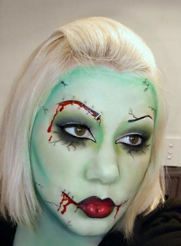 halloween schminktipps party make up grausam