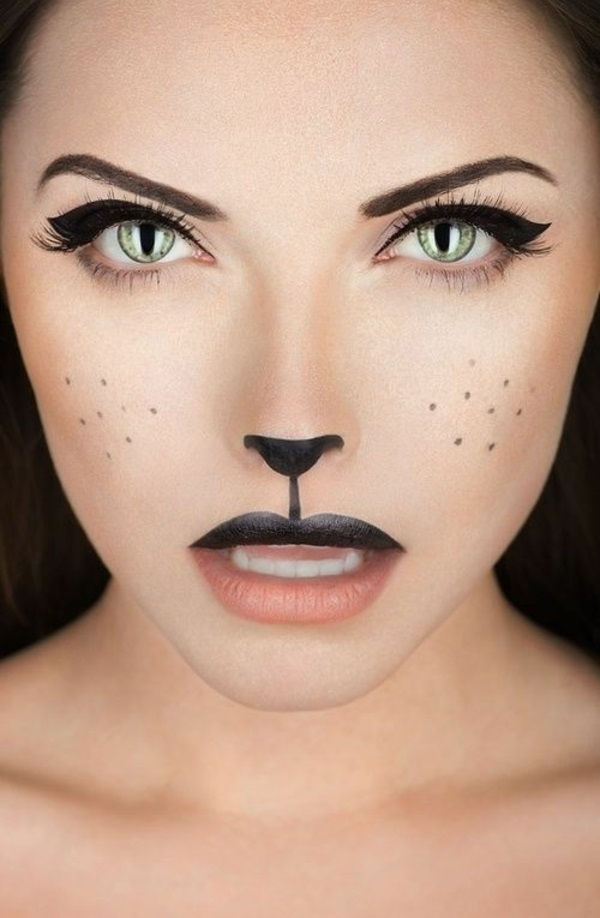 halloween schminktipps party make up katze