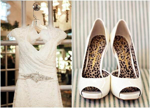 Romantische Hochzeitsfeier ideen trauung im freien kleid schuhe