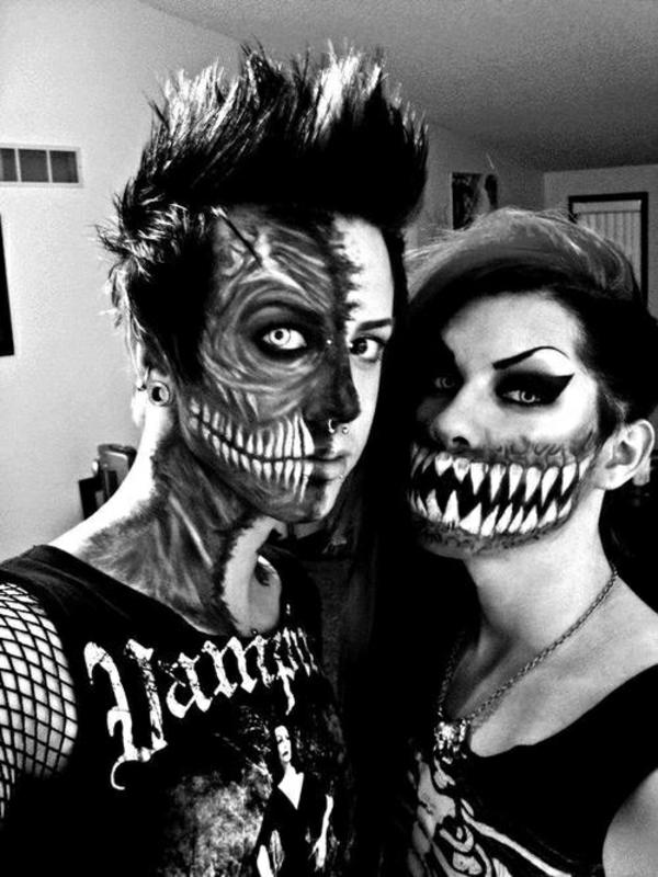 horror halloween kostüme schrecklich paar