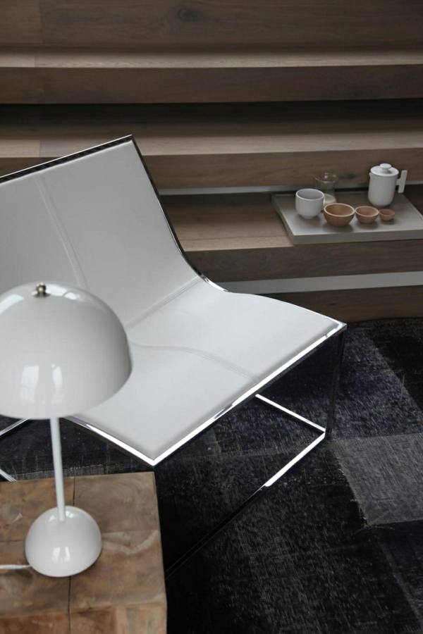 japanische einrichtung weiß glanz stuhl tischlampe