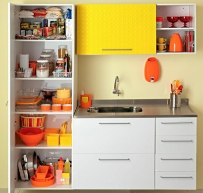Küchengestaltung Ideen - Küchenschränke richtig organisieren