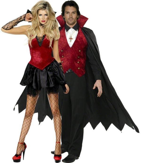 karnevalskostüme halloween verkleidung schwarz rot