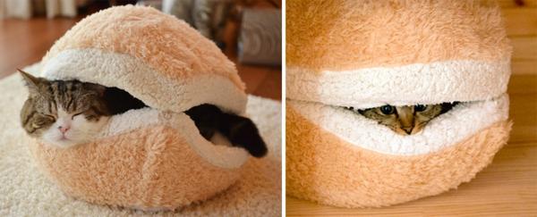 katzenmöbel design katzenbett weich sandwich