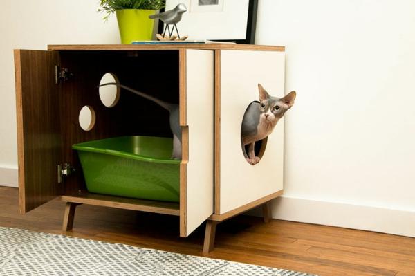 katzenmöbel katzen wohnung design kommode