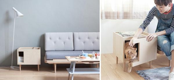 katzenmöbel stehlampe modern design möbelstück anrichte